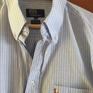 Polo Ralph Lauren XL Button Down, blue stripe